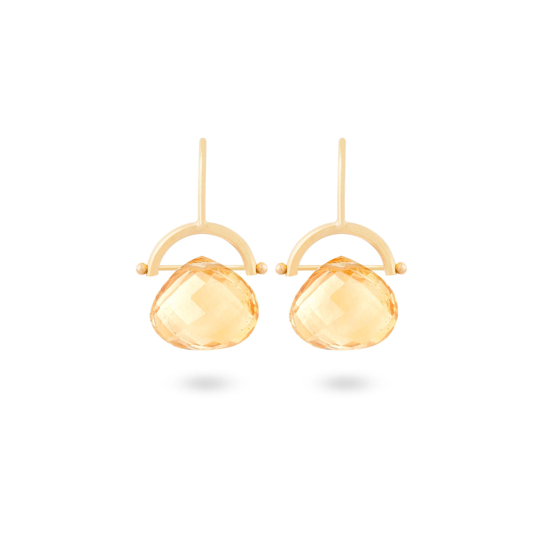 Boucles d'oreilles citrines
