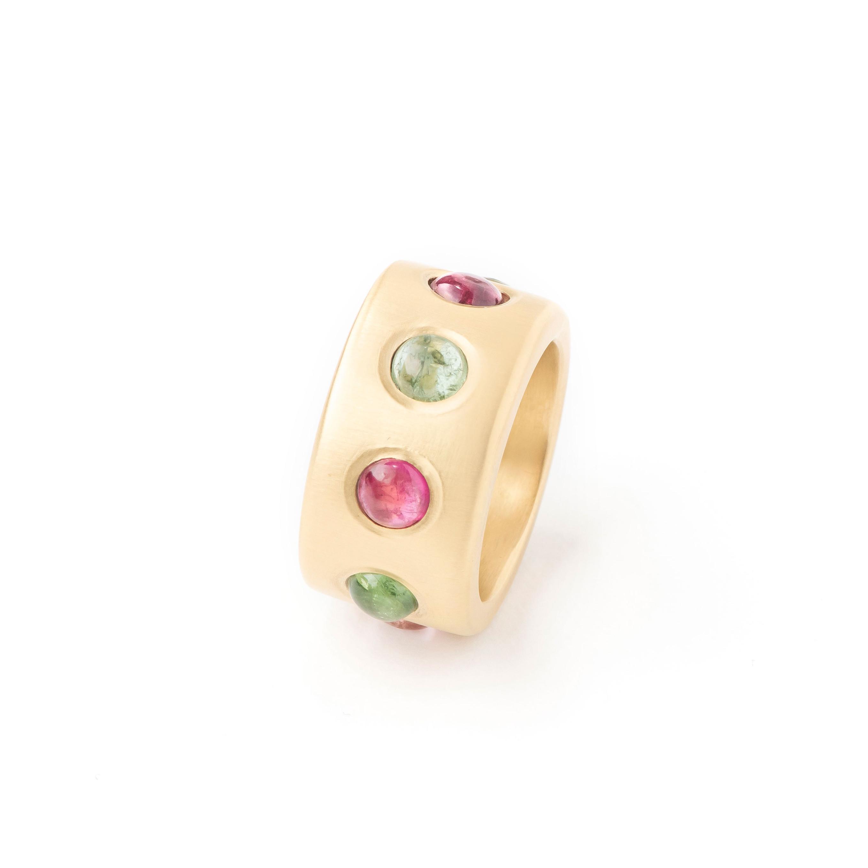 Bague anneau tourmalines