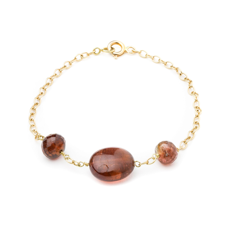 Bracelet tourmalines bordeaux