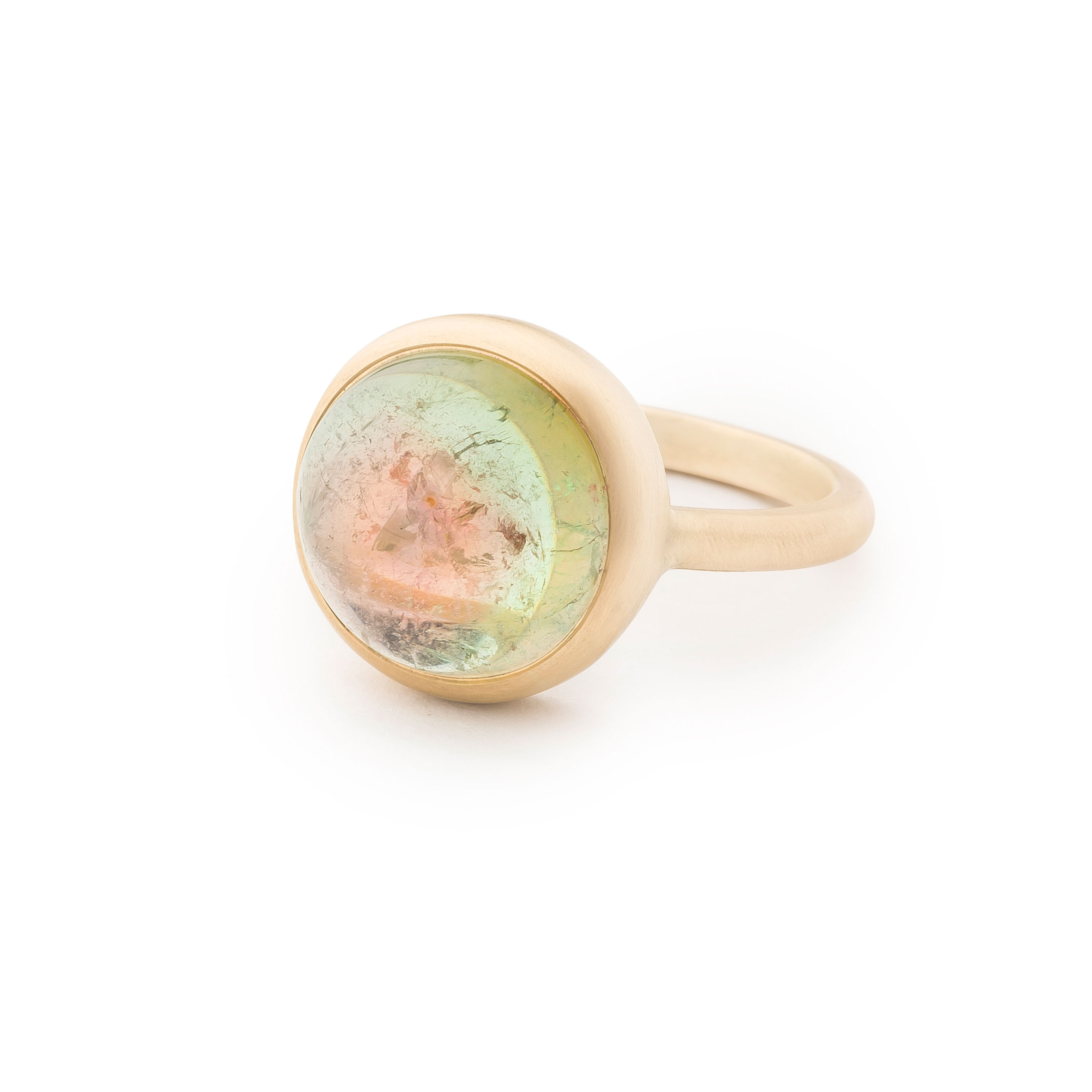 Bague tourmaline watermelon