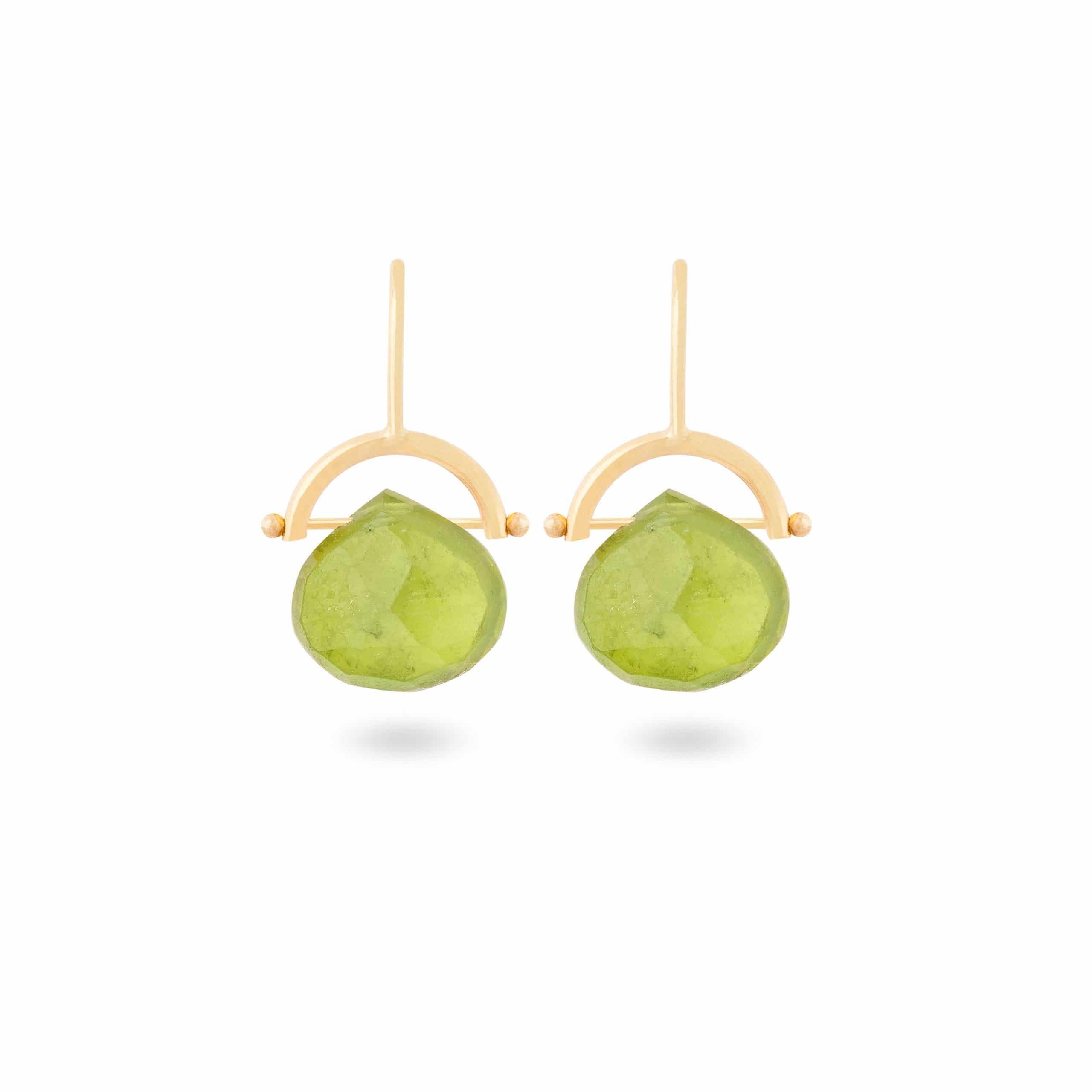 Boucles d'oreilles tourmalines verts