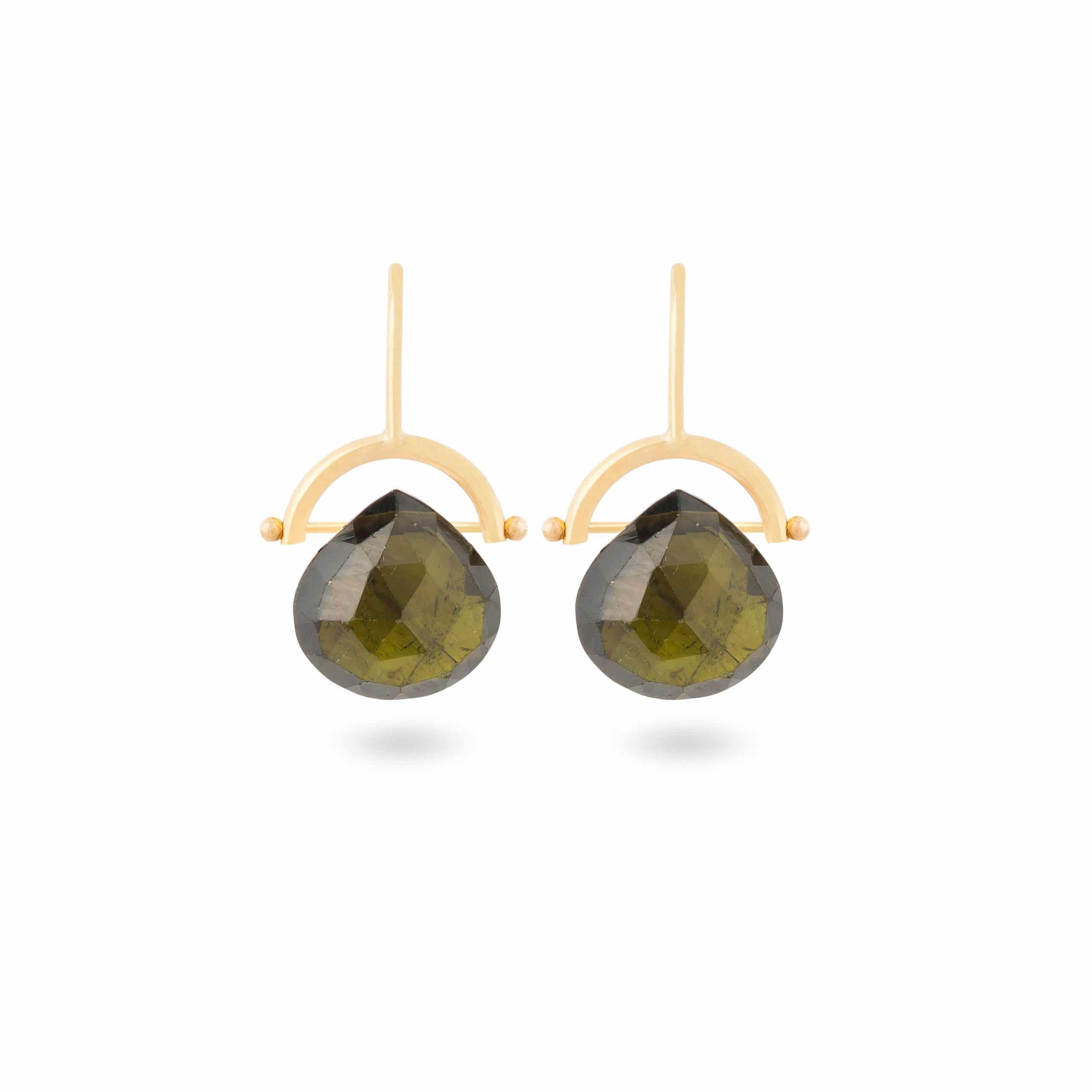 Boucles d'oreilles tourmalines vertes