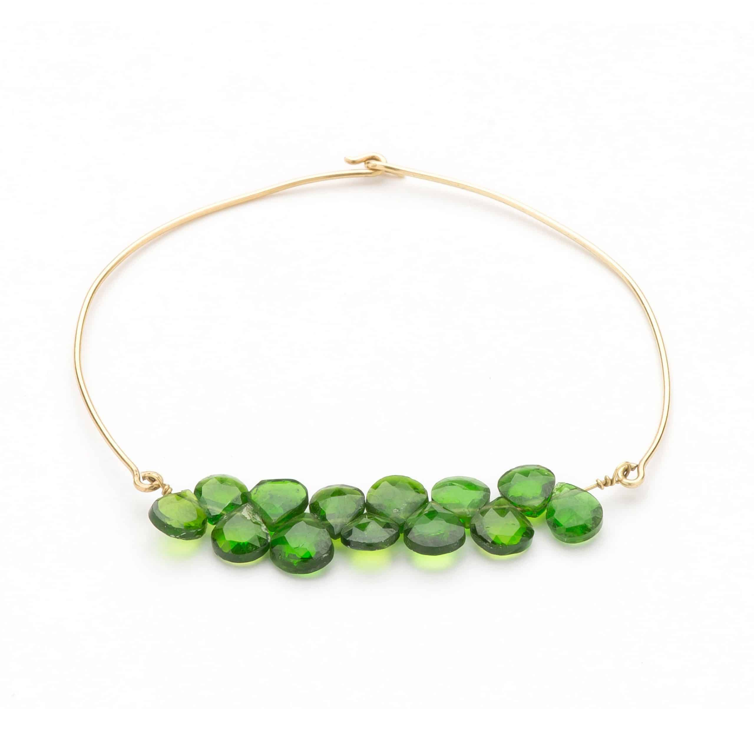Bracelet grenats verts