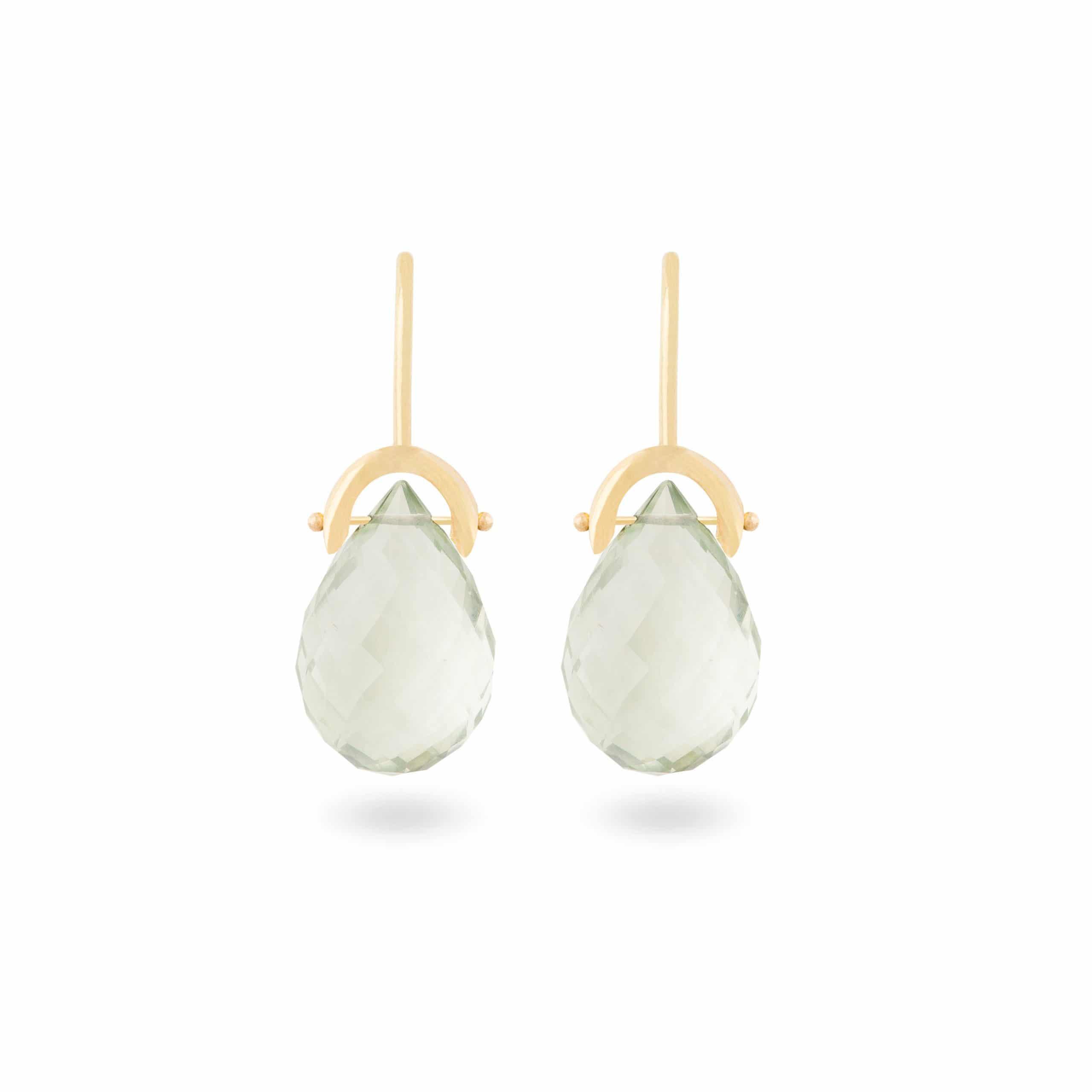 Boucles d'oreilles prasiolites