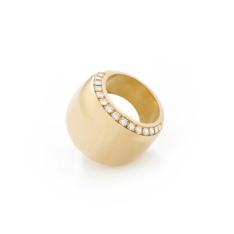 Bague anneau diamants