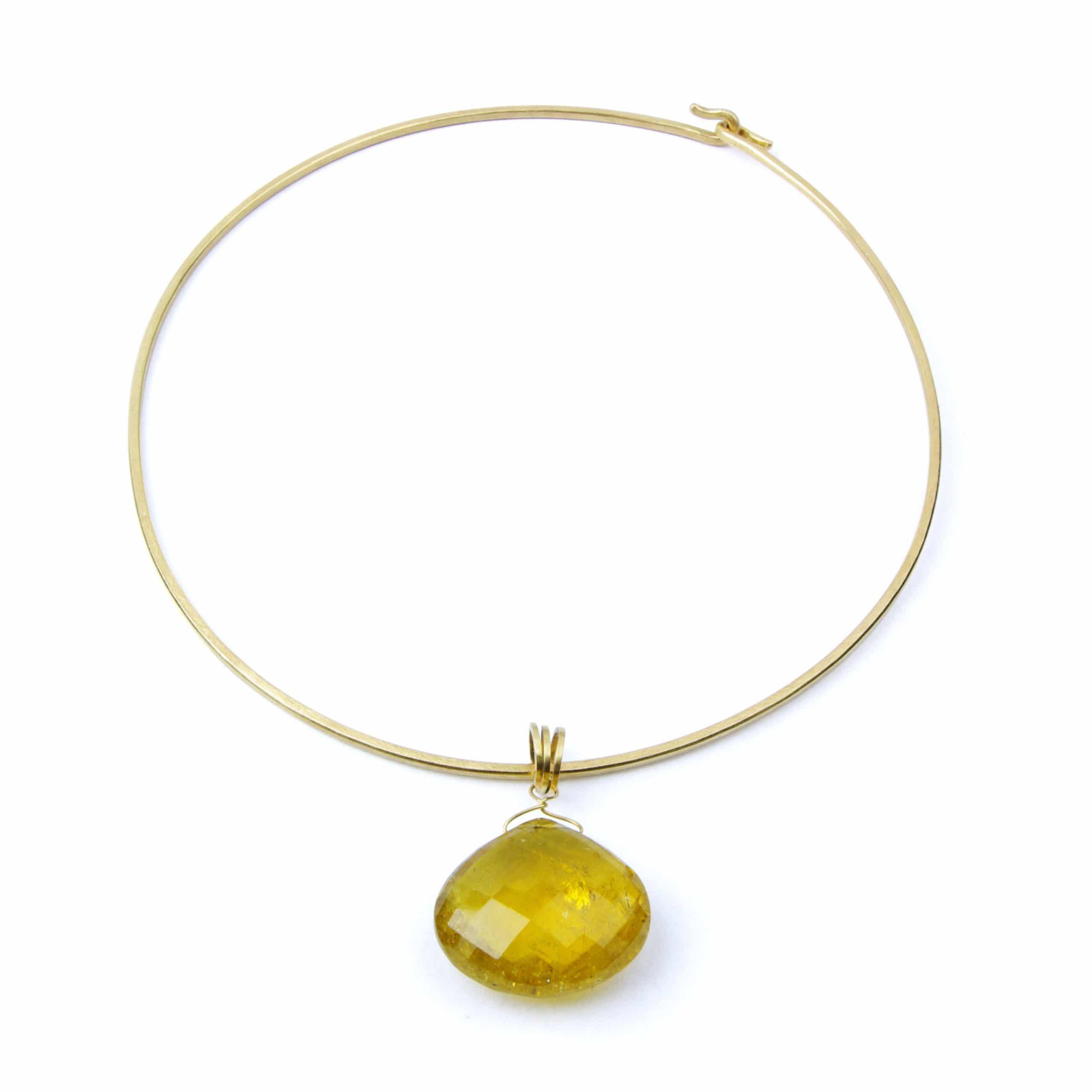 Collier tourmaline jaune