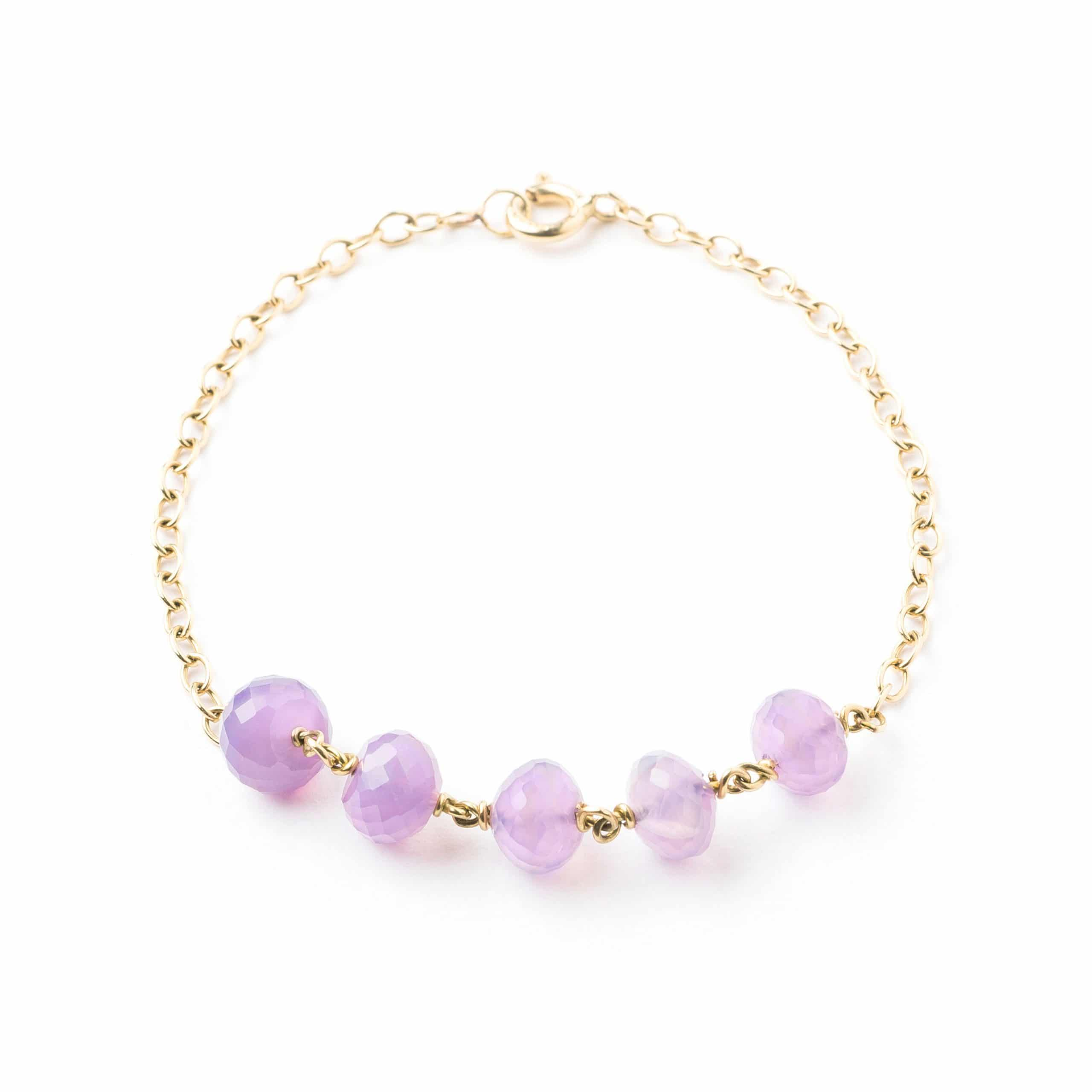 Bracelet quartz mauves