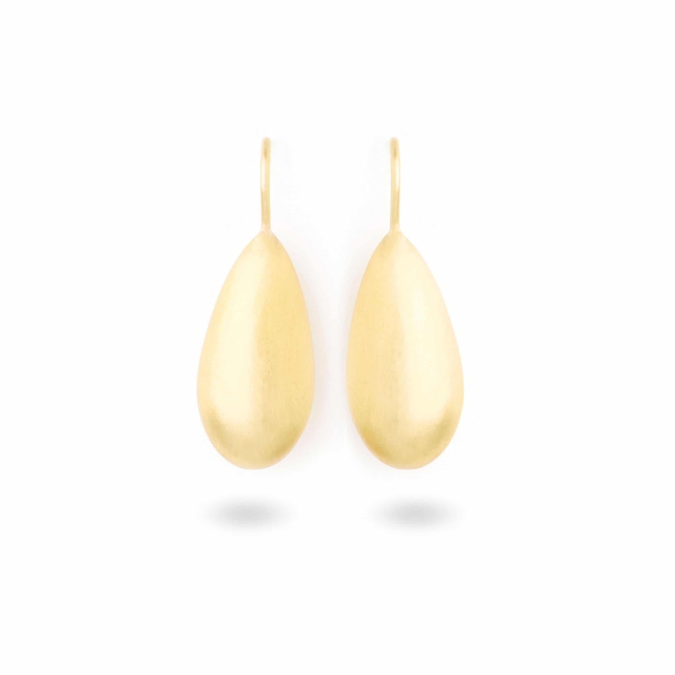 Boucles d'oreilles gouttes d'or