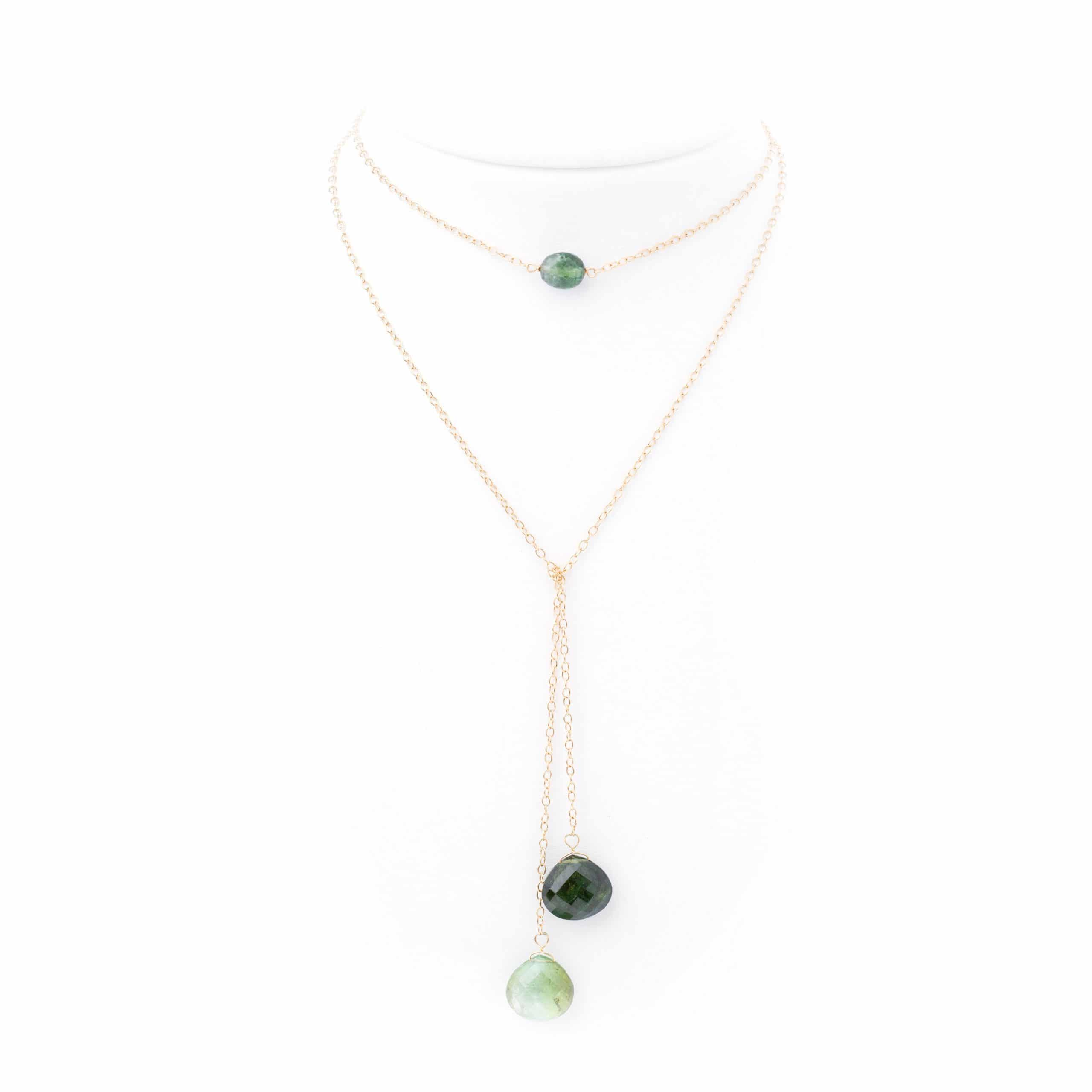 Collier double tourmalines