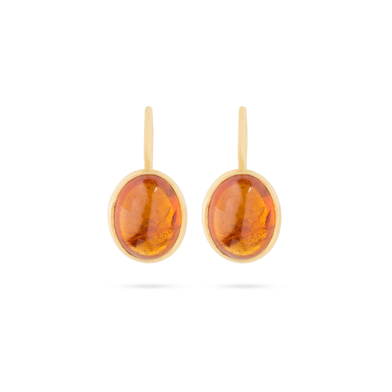 Boucles d'oreilles Grenats Hessonite