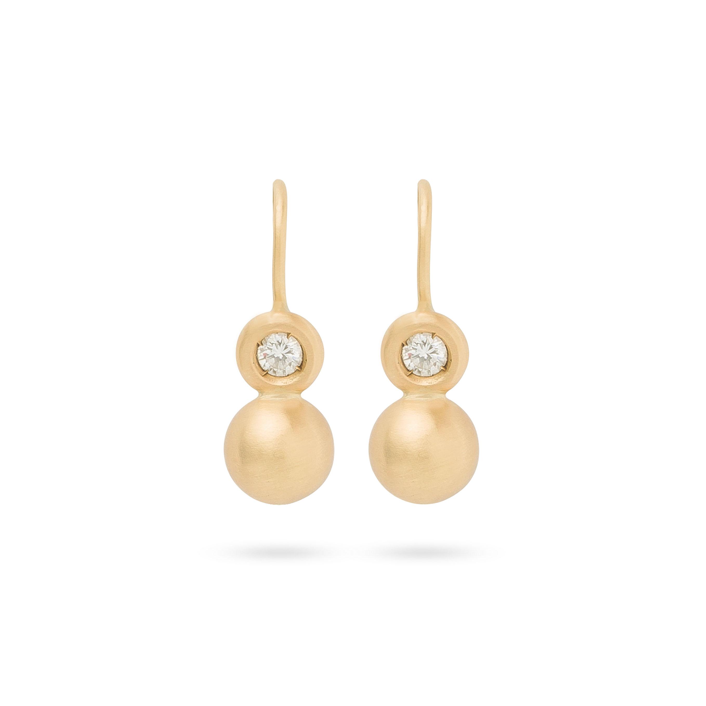 Boucles d'oreilles boules et diamants