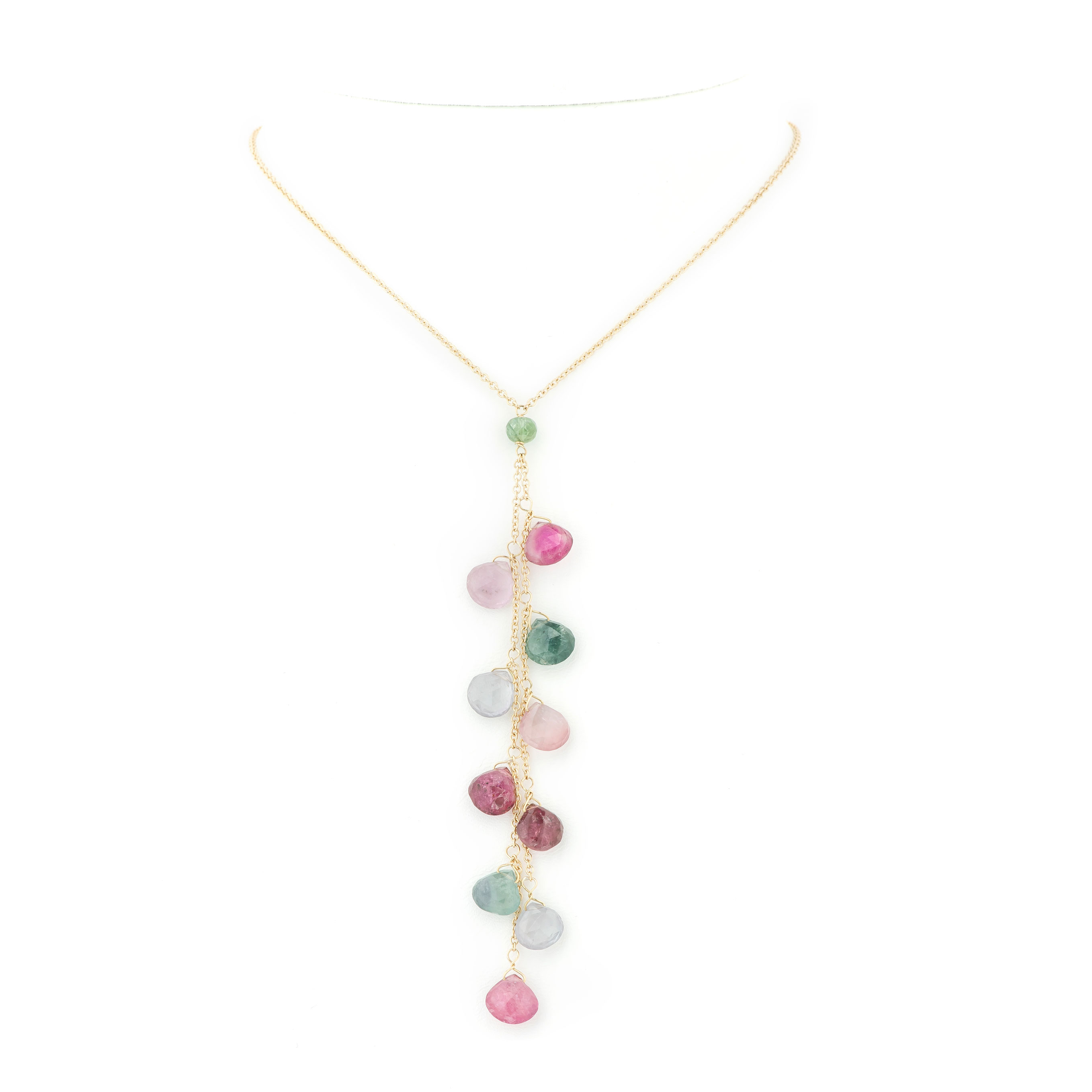 Collier grappe tourmalines