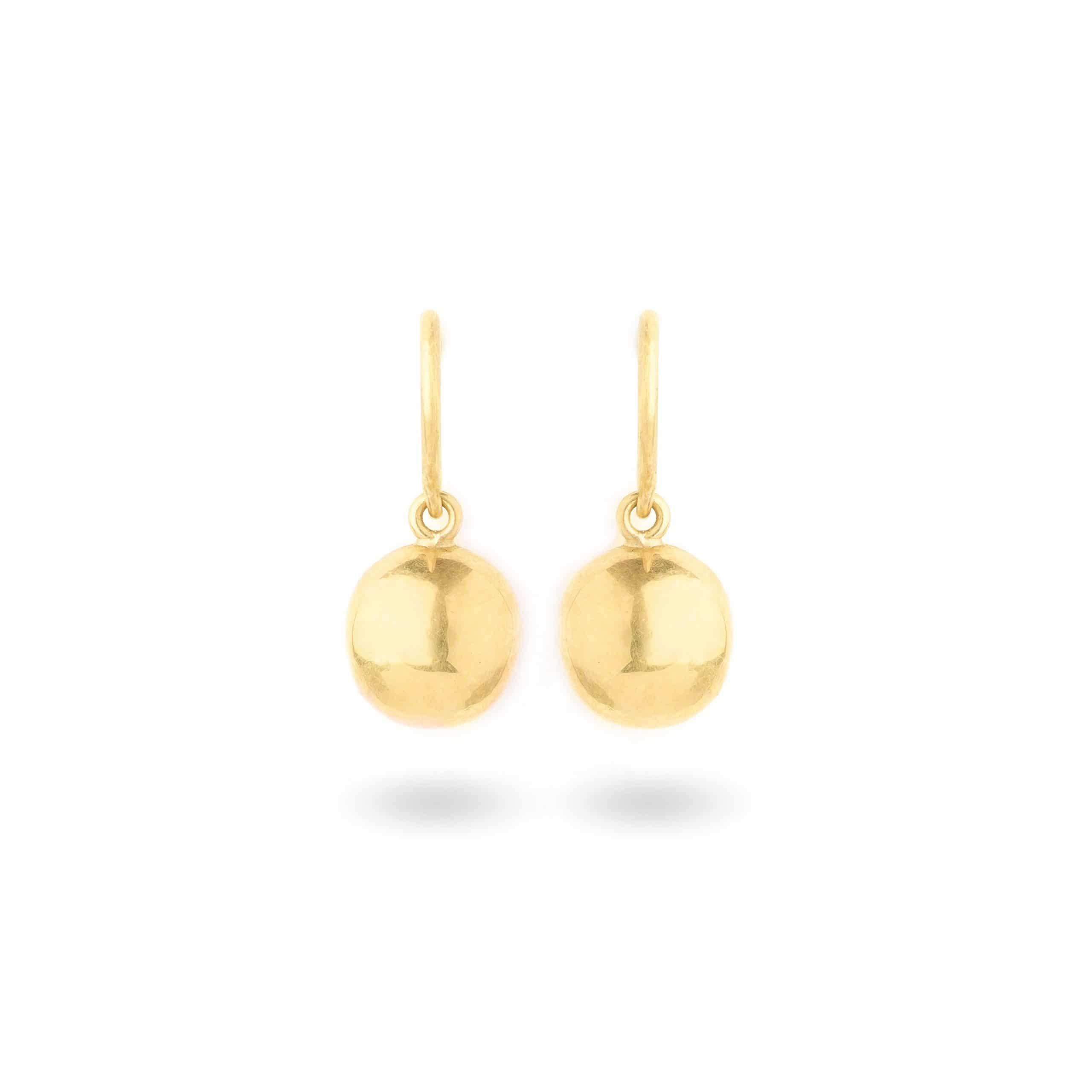 Boucles d'oreilles boules d'or