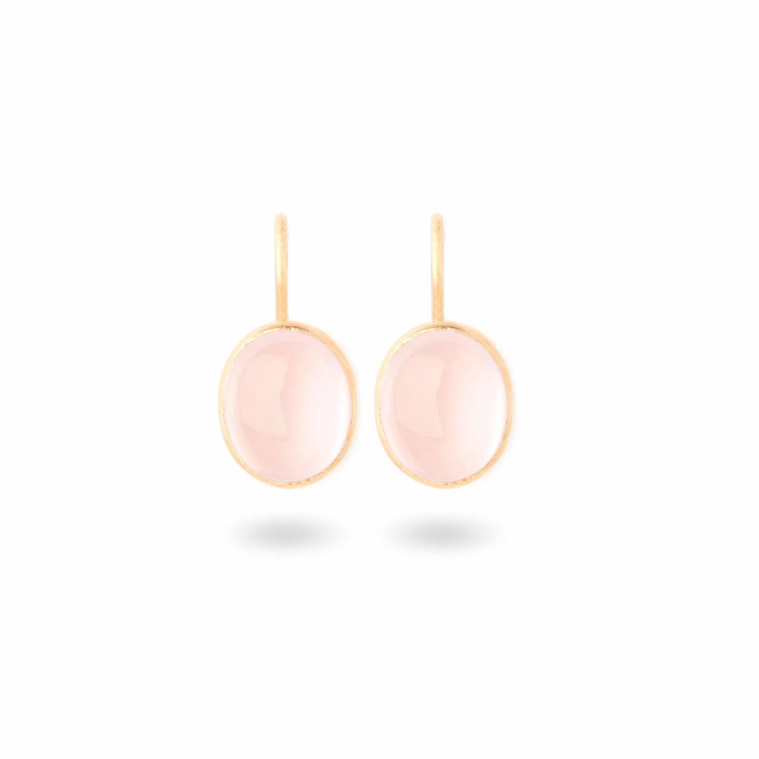 Boucles d'oreilles quartz roses