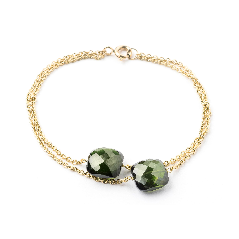 Bracelet tourmalines vertes