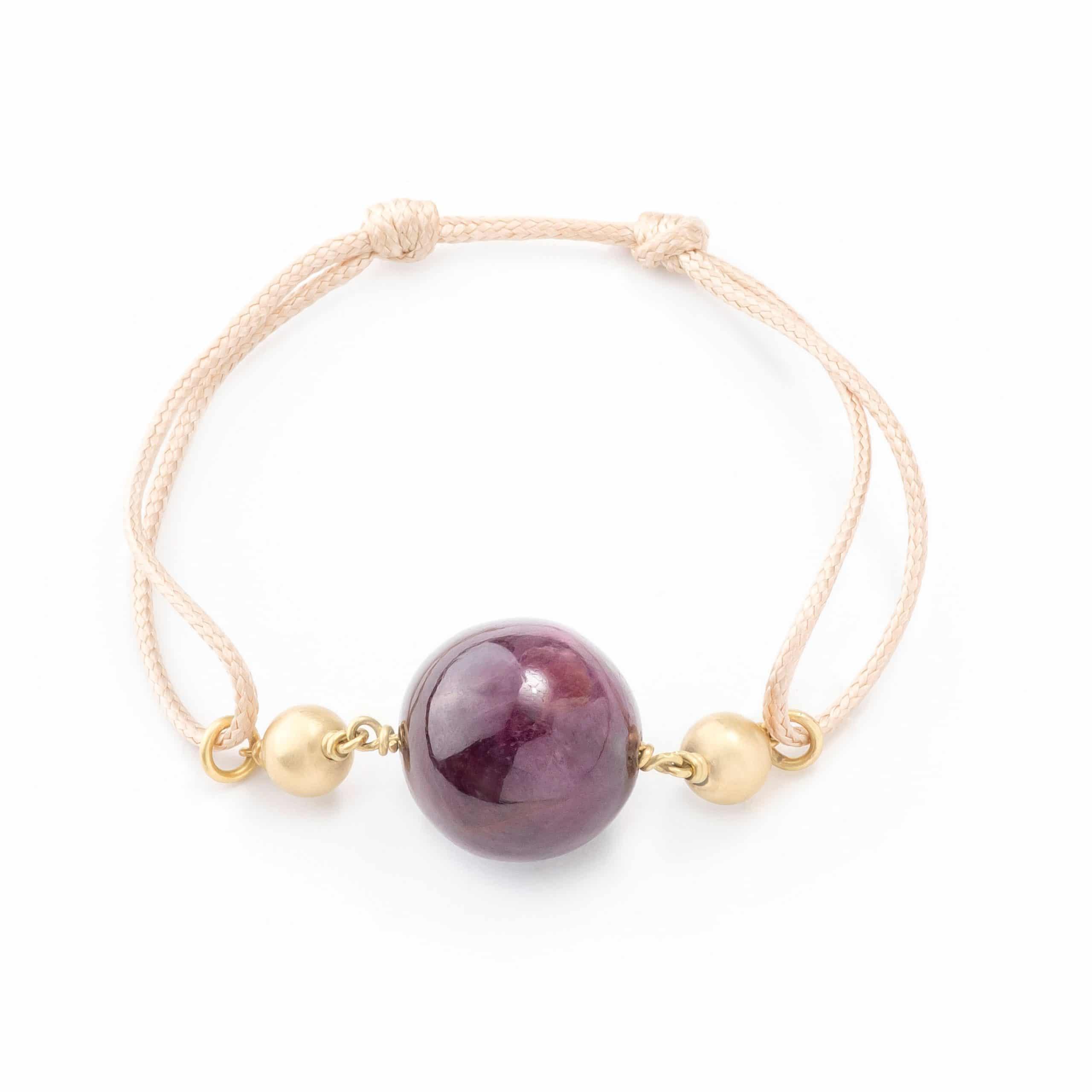 Bracelet-lien rubis