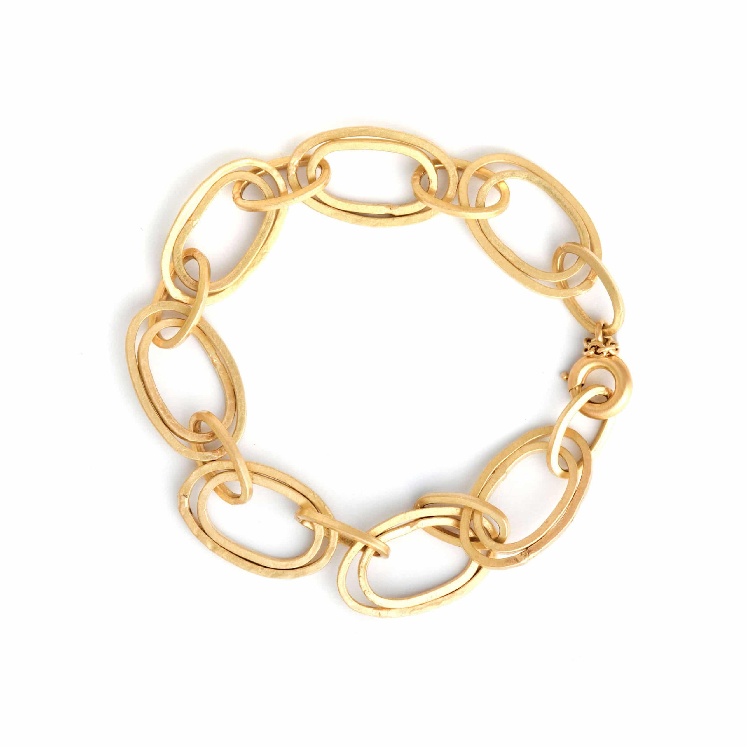 Bracelet anneaux or