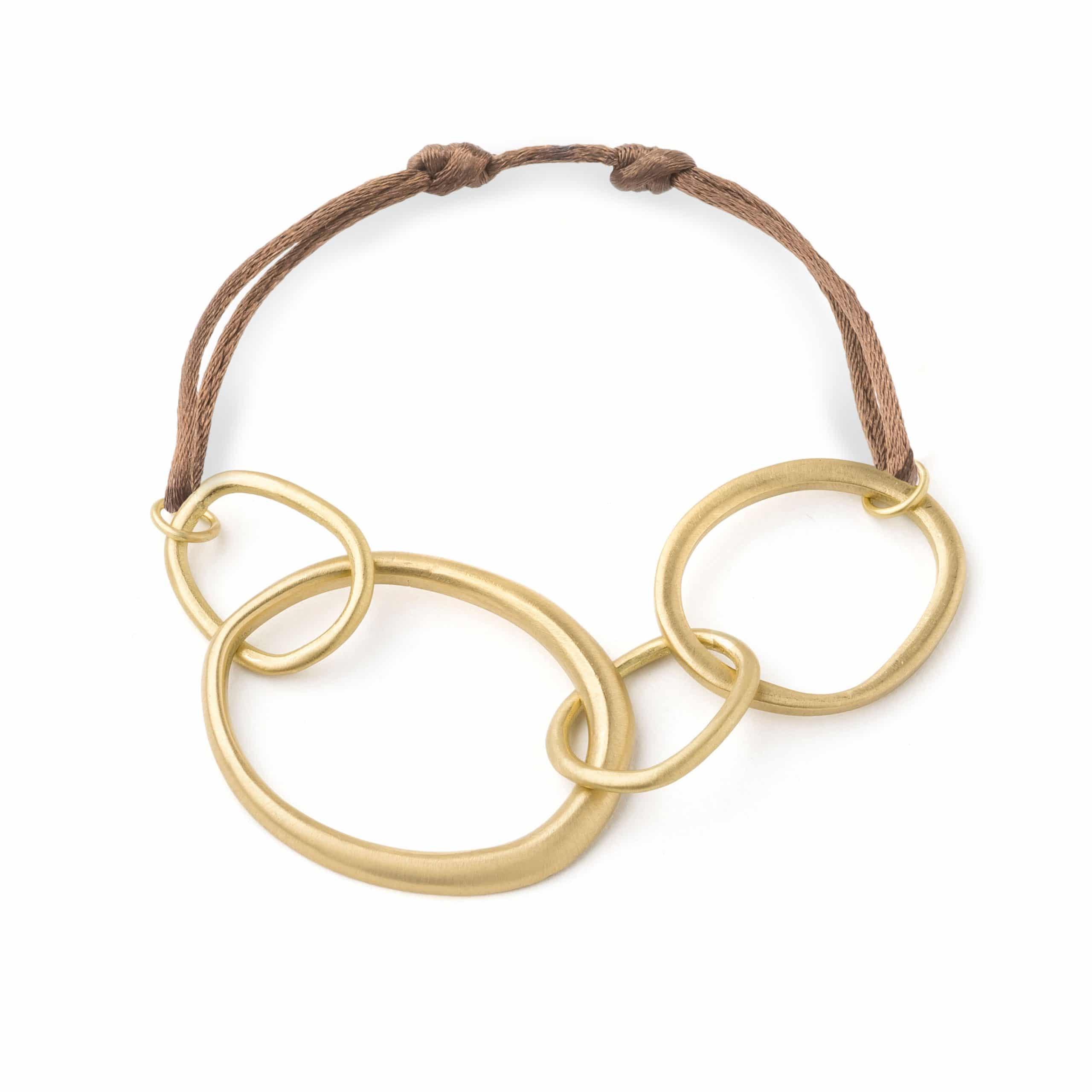 Bracelet lien anneaux or